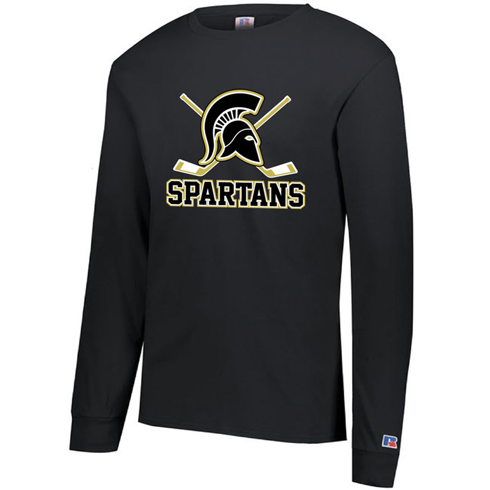 AHA SPARTANS RUSSELL COTTON CLASSIC LONG SLEEVE TEE-Long Sleeve-Advanced Sportswear