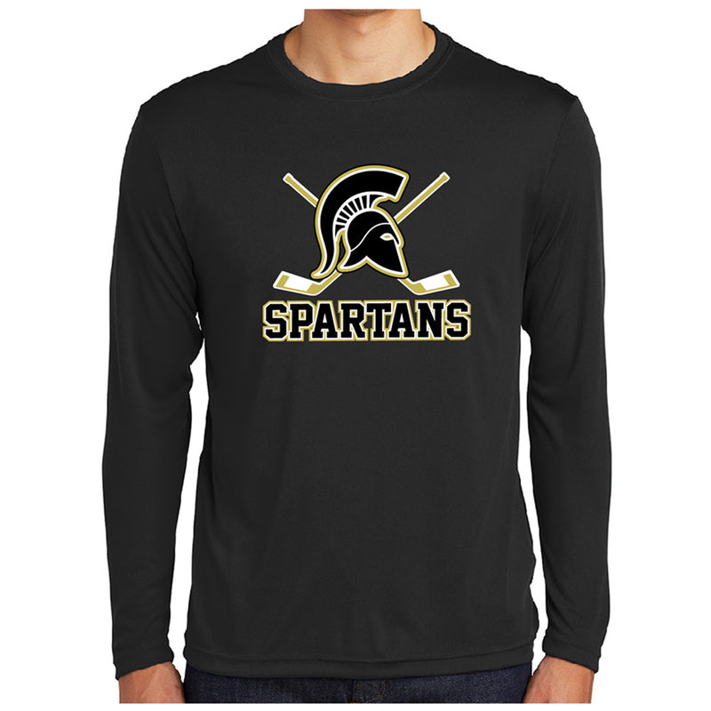 AHA SPARTANS Sport-Tek® PosiCharge® L/S Competitor™ Tee-performance-Advanced Sportswear