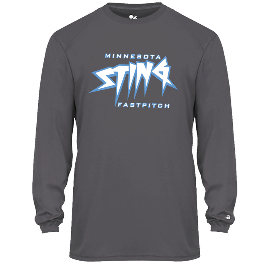 Mn Sting Unisex B-Core L/S Performance T - Advanced Sportswear Inc, - Newport, MN