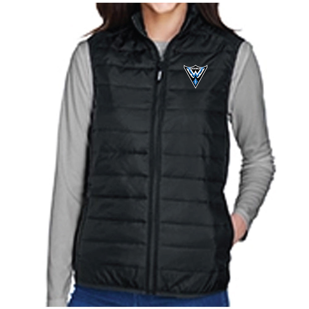 WFS - Core 365 Ladies' Prevail Packable Puffer Vest-Outerwear-Advanced Sportswear