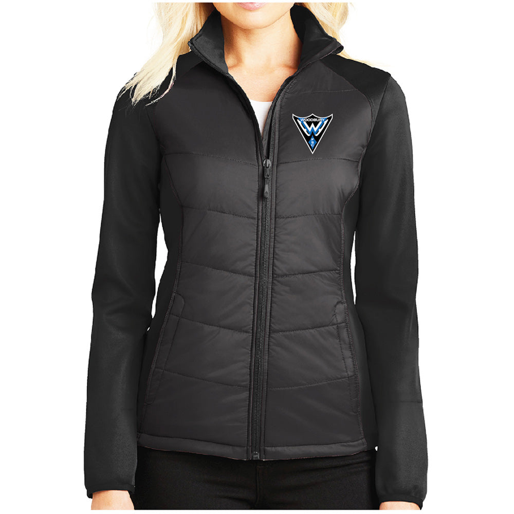 WFS - Port Authority® Ladies Hybrid Soft Shell Jacket-Outerwear-Advanced Sportswear