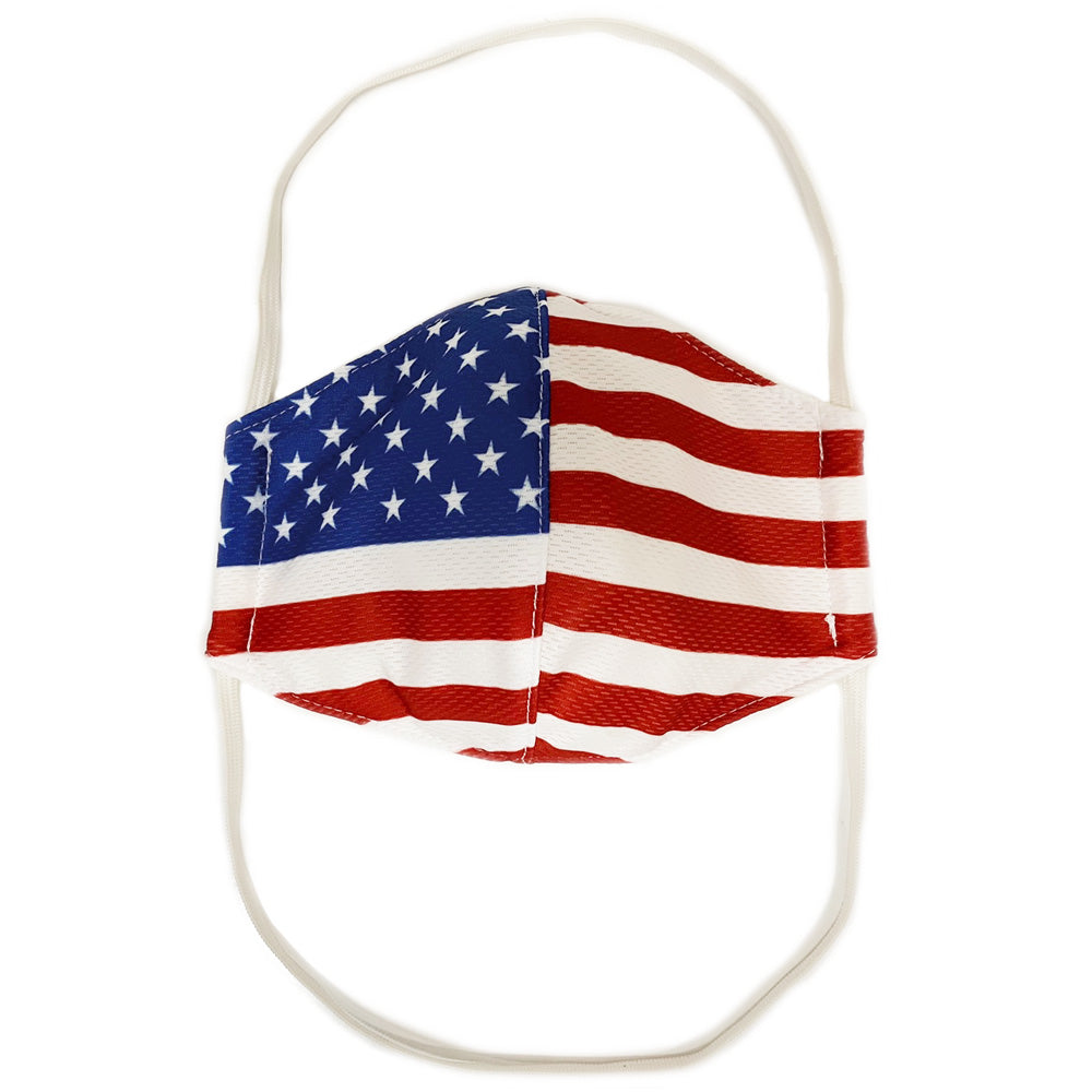 AMERICAN FLAG TRIPLE LAYER BEHIND THE HEAD FACE MASK-Accessories-Advanced Sportswear