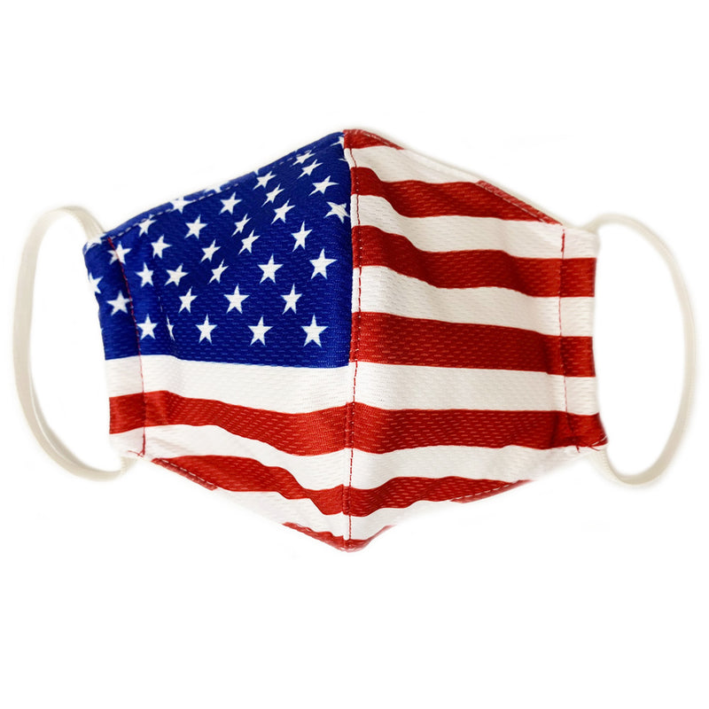 AMERICAN FLAG TRIPLE LAYER BEHIND THE EAR FACE MASK-Accessories-Advanced Sportswear