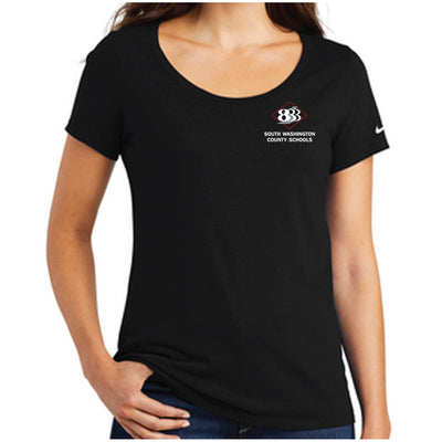 833 - Nike Ladies Core Cotton Scoop Neck Tee-Ladies-Advanced Sportswear