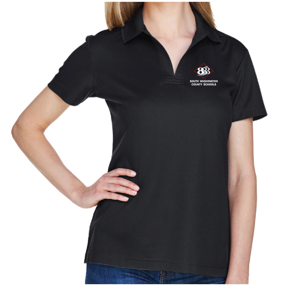 833 - Devon & Jones CrownLux Performance™ Ladies' Plaited Polo-Ladies-Advanced Sportswear