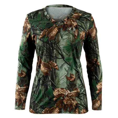 Chandail Chasse manches longues Light-T pour femme - Late Fall Camo