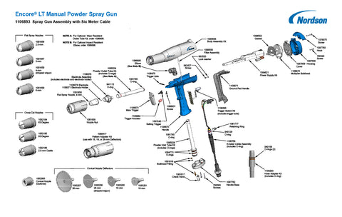 Encore LT Manual Powder Spray Gun
