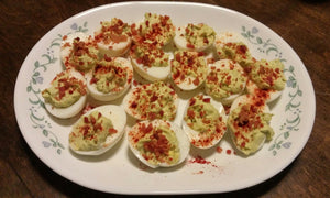 Keto Avacado Deviled Eggs
