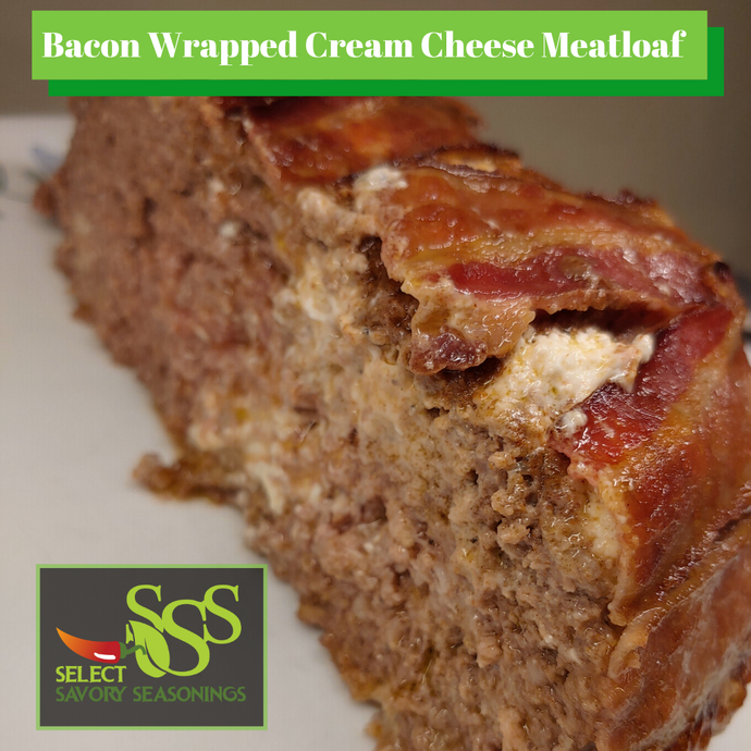 Bacon Wrapped Cream Cheese Meatloaf