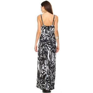 Womens Braided Strap Printed Maxi Dress Dresses Truthbuys.com
