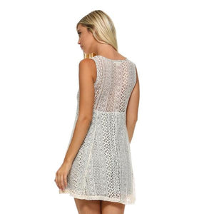 Womens Lace Detail Tank Dress Dresses Truthbuys.com