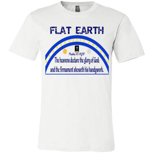 Youth Crew Tee: Flat Earth Psalms 19:1 White / S Truth Tees Truthbuys.com