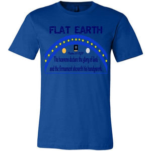 Youth Crew Tee: Flat Earth Psalms 19:1 True Royal / S Truth Tees Truthbuys.com