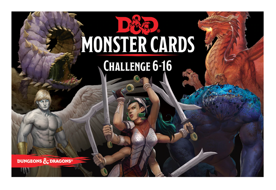 Dungeons & Dragons Monster Cards: Challenge 6 - 16 | Spellbound Games