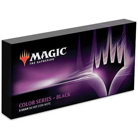 Magic: The Gathering Color Series - Black 5g Silver Coin Note