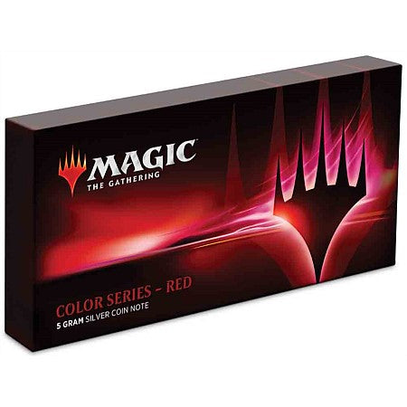 Magic: The Gathering Color Series - Red 5g Silver Coin Note | Spellbound Games