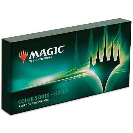 Magic: The Gathering Color Series - Green 5g Silver Coin Note | Spellbound Games