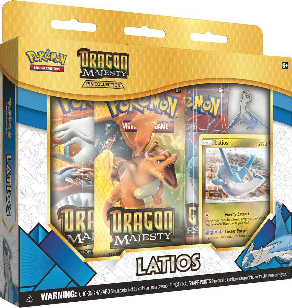 Pokemon Dragon Majesty Pin Collection Box - Latios | Spellbound Games