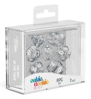 Oakie Doakie Dice Translucent - RPG Set Clear (7) | Spellbound Games