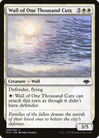 Wall of One Thousand Cuts [Modern Horizons]