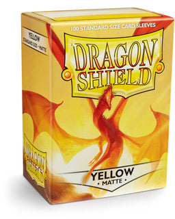 Dragonshield Standard Matte Yellow (100ct)  | My Pop Culture | New Zealand