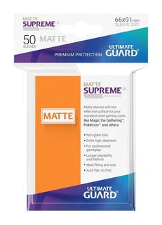 Matte Supreme Standard Orange (50ct) | Spellbound Games