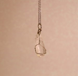 Raw Clear Quartz pendant