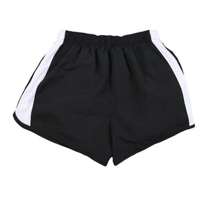 Black & White Women's Nike Running Shorts Front