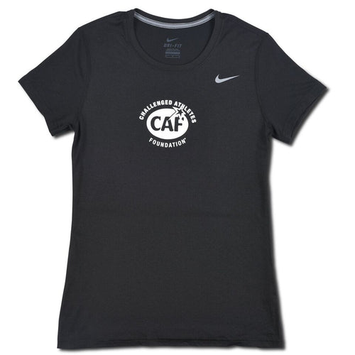 Black Nike Women's Tech Tee Front
