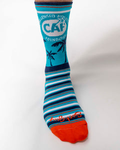 Orange/Aqua CAF Socks-Long