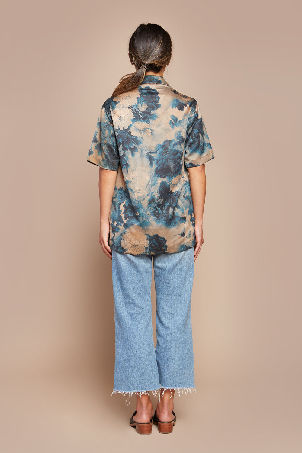 Blue Porcelain Camp Collar Shirt