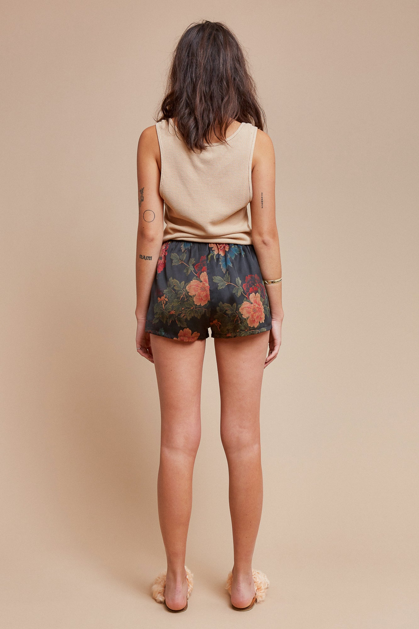 Black Dahlia Sleep Shorts
