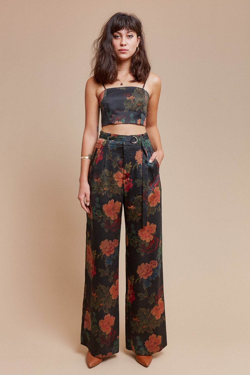 Black Dahlia Belted Trouser