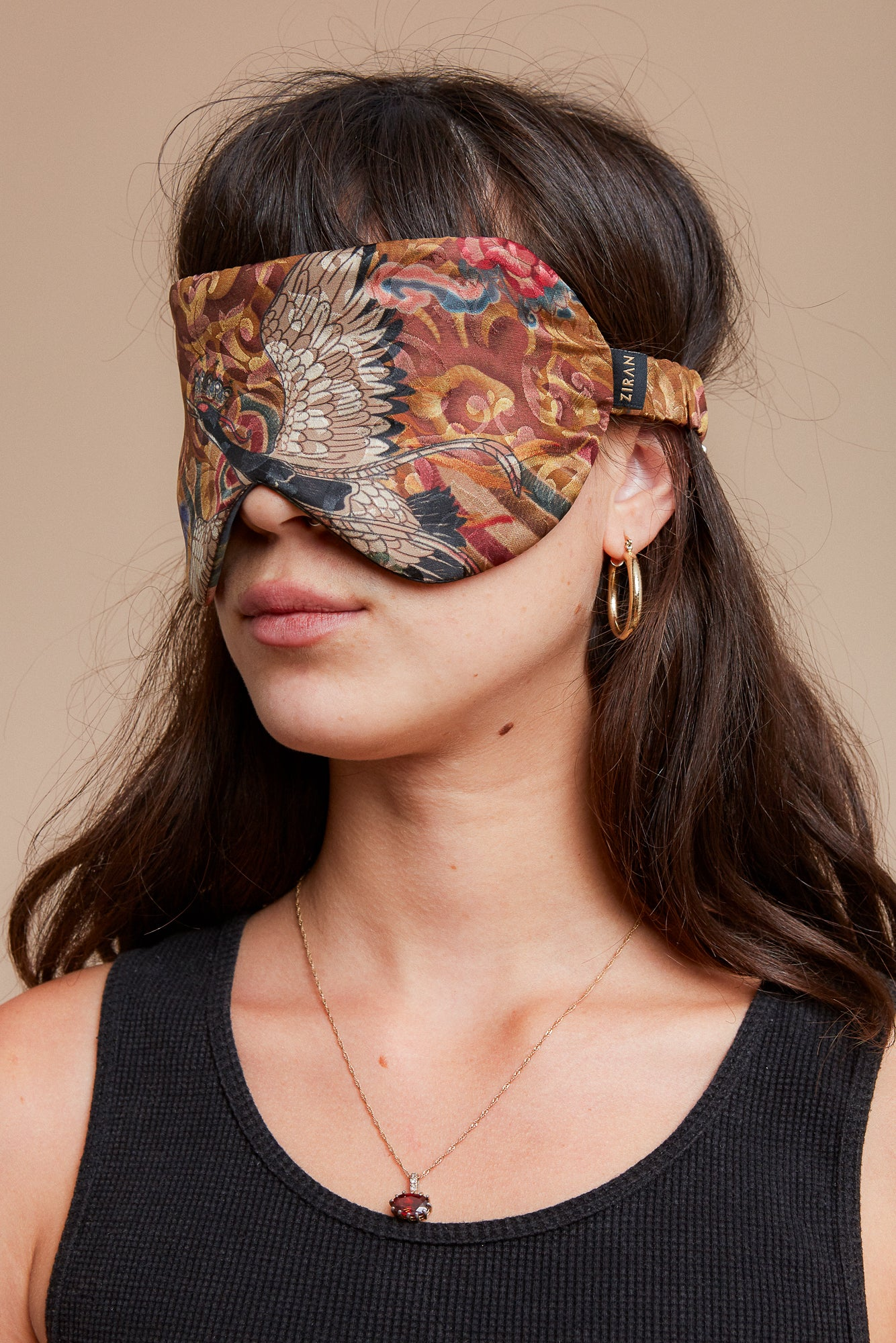 Golden Crane Reversible Eyemask