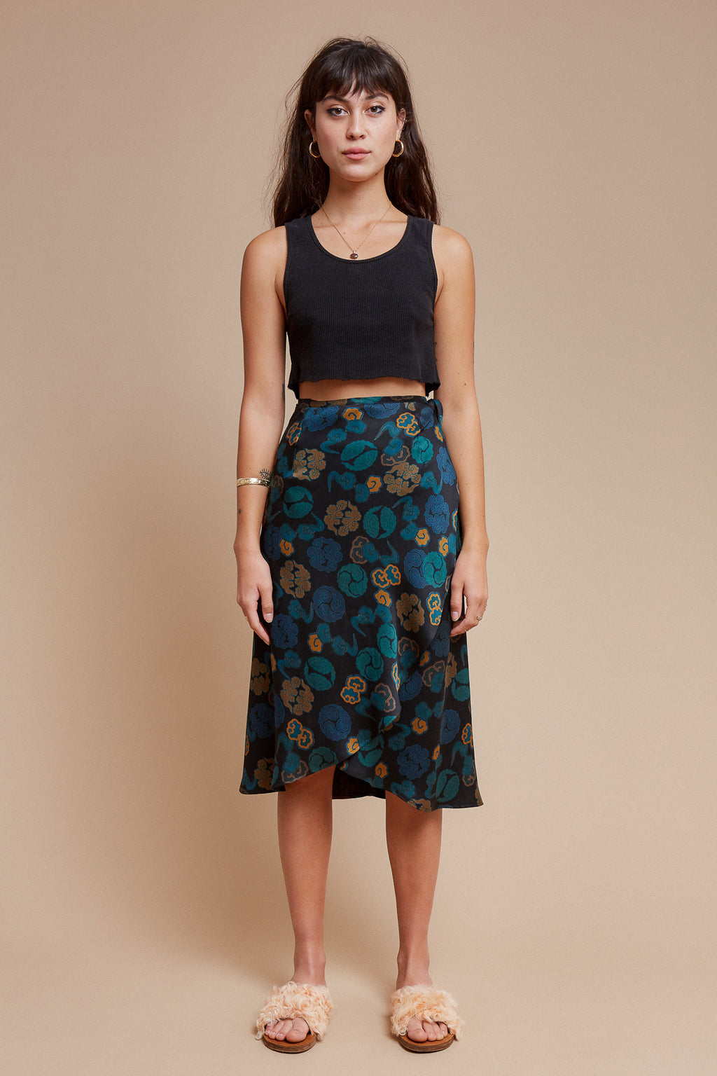 Imperial Clouds Wrap Skirt