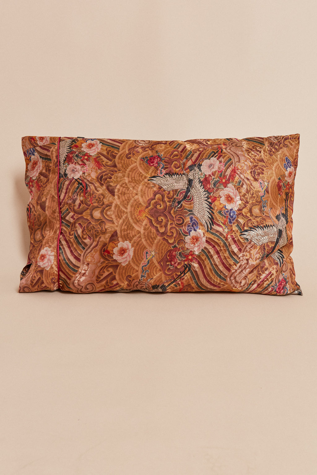 Golden Crane Pillowcase