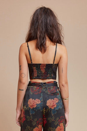 Black Dahlia Spaghetti Crop Top