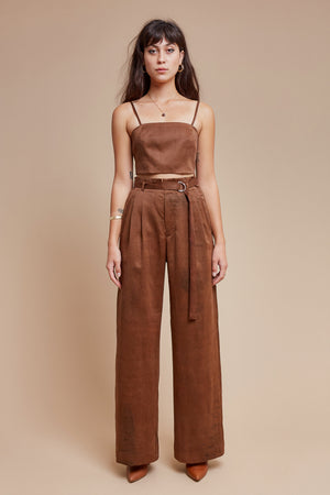 Brown Sugar Belted Trouser