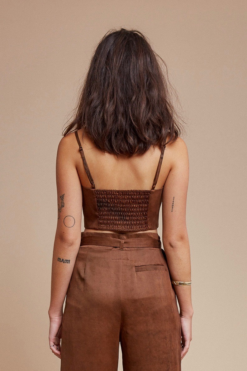 Brown Sugar Spaghetti Crop Top
