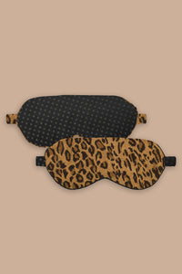 Leopard and Polka Dot Reversible Eyemask
