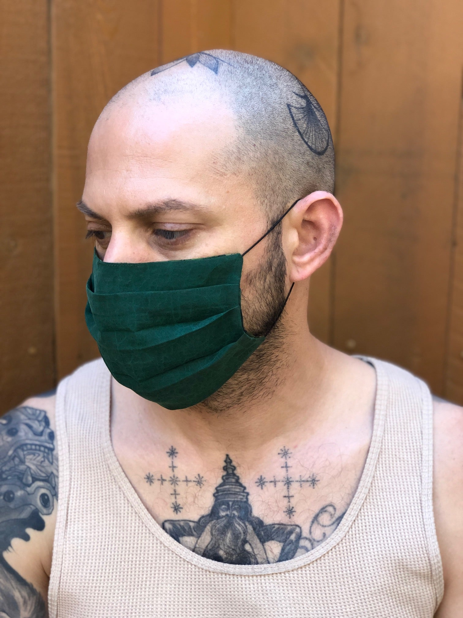 Green Turtle Reversible Facemask