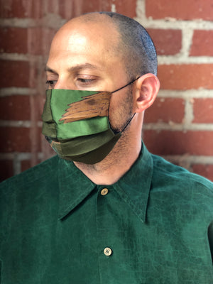Green Patchwork Reversible Facemask