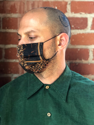 Leopard Chain Reversible Facemask