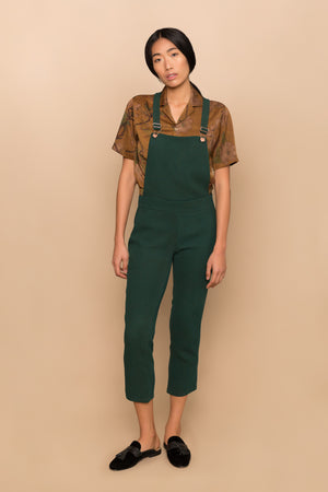 Green Waffle Overalls