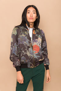 Ivy and Green Waffle Reversible Bomber Jacket