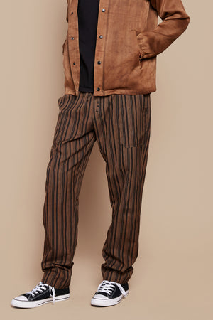 Brown Stripe Lounge Pant