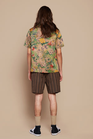 Rasta Flower Camp Collar Shirt