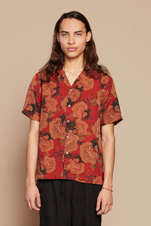 Crimson Camp Collar Shirt