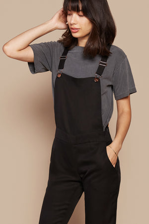 Black With Marigold Overalls