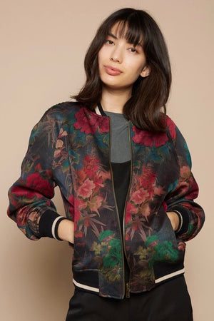 Miami Vice and Black Reversible Bomber Jacket